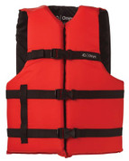 Onyx Life Jacket, General Purpose Red/Black Choose Size