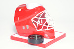 Red Hockey Helmet Base