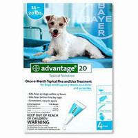 Advantage-4pk (Teal) Medium Dog 11-20 lbs (5-9 kg)