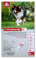 Advantix / K9-Advantix - 4 pack:Large Dog  21-55 lbs (9.5-25kg)