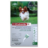 Advantix / K9-Advantix - 4 pack: Small Dog  1-10 lbs (0-4.5 kg)