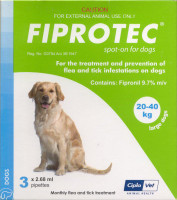 Fiprotec Spot-On - 6 pack: Large Dog: 44-88 lbs (20-40 kg)