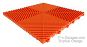 """Ribtrax """"Tropical Orange"""" SALE PRICE ONLY $3.96 PER SQ FT - Tile Size: 15 3/4"""" x 15 3/4"""" (1 Tile = 1.72 sq ft)"""