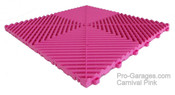 """Ribtrax """"Carnival Pink"""" Tile SALE PRICE ONLY $3.96 PER SQ FT - Size: 15 3/4"""" x 15 3/4"""" (1 Tile = 1.72 sq ft)"""