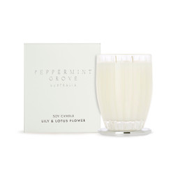 Peppermint Grove Large Candle 350g - Lily & Lotus Flower