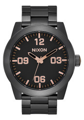 Nixon Corporal SS 48mm - All Black/Rose Gold