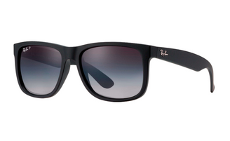 Ray-Ban Justin Classic Polarised Sunglasses - Matte Black