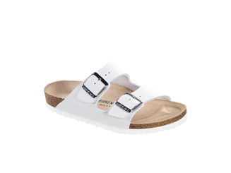 Birkenstock Arizona Smooth Leather (Classic Footbed - Suede Lined) - White