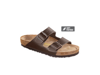 Arizona Smooth Leather  (Soft Footbed - Suede Lined) - Dark Brown