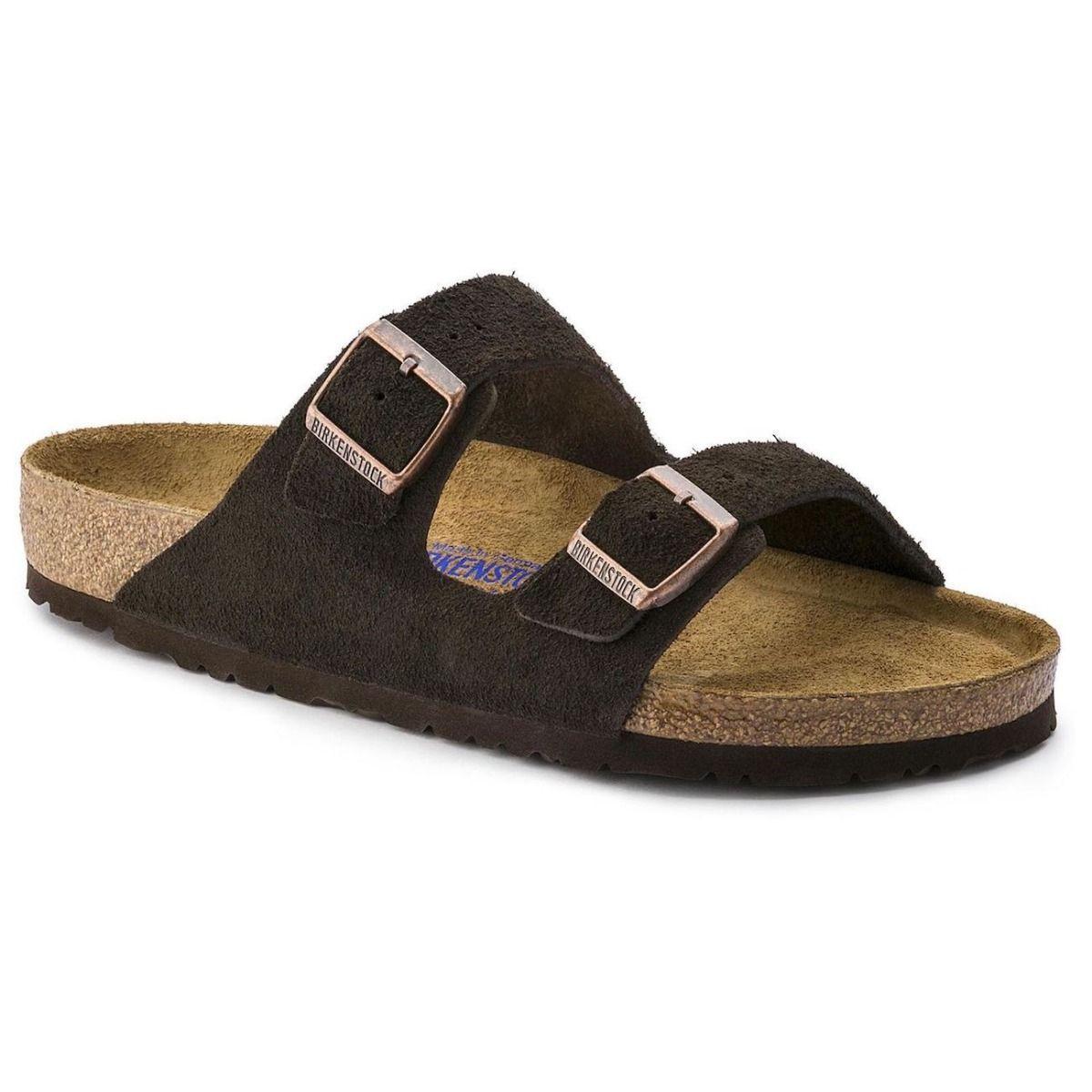birkenstock arizona soft footbed suede leather sandals