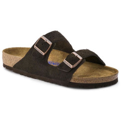 Birkenstock Arizona Suede Leather (Soft Footbed - Suede Lined) - Mocha