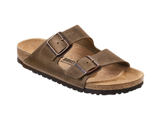 Birkenstock Arizona Natural Oiled Leather (Classic Footbed - Suede Lined) - Tabacco Brown