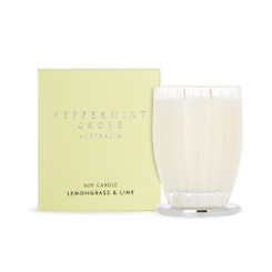Peppermint Grove Large Candle 350g - Lemongrass & Lime