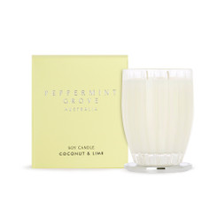 Peppermint Grove Large Candle 350g - Coconut & Lime