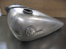 Later 1942 Four Cyl. Indian gas tanks...showing trim strips and 1942 emblems*      * purchased separately