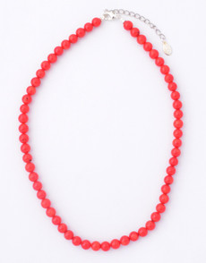 Red Coral Small Bead Necklace