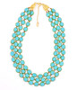 Triple Turquoise Czech Glass Necklace