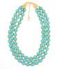 Triple Turquoise Czech Glass Necklace