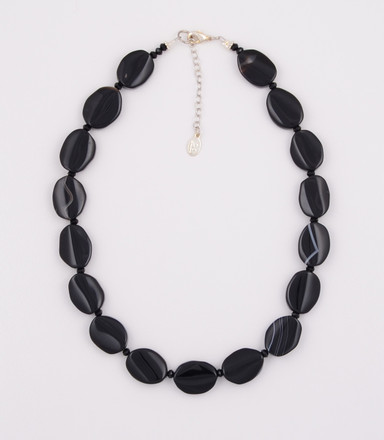 Black Agate Oval Necklace