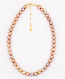 Light Brown Fresh Water Pearl Necklace
