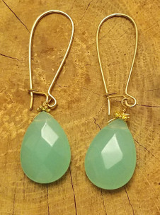 Amazonite Earrings (Gold)