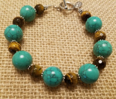 Turquoise and Tiger Eye Bracelet