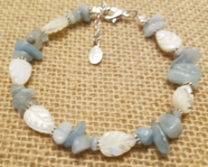 Mother of Pearl and Blue Quartz Bracelet