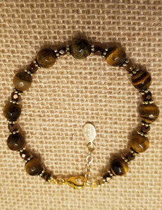 Tiger Eye (Gold Clasp) Bracelet