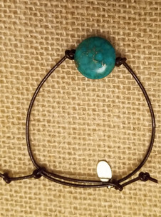 Matrix Turquoise Leather Bracelet