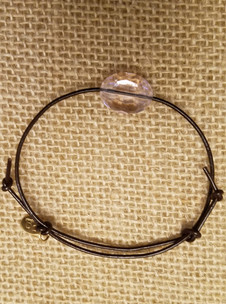 Rose Crystal Leather Bracelet