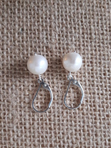 Freshwater Pearl Round Earrings (Silver 925)