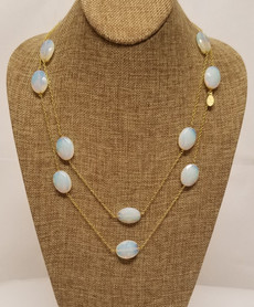 Opal Long Chain (Gold)