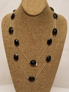 Blue Goldstone Long Chain (Silver 925)