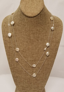 White Freshwater Pearl Long Chain (Silver 925)