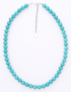 Medium Ball Turquoise Necklace