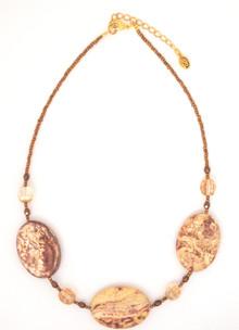 Jasper 3-Stone Necklace