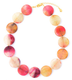 Agate Large Coin Necklace