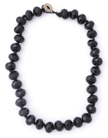Black Onyx Faceted Threaded Necklace