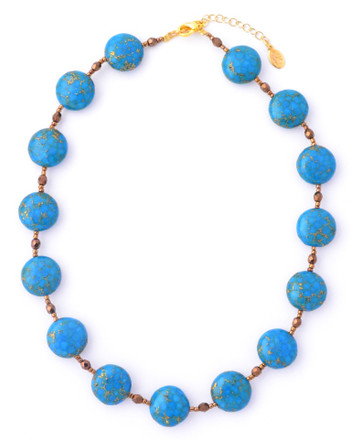 Turquoise Small Coin Necklace