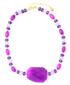 Amythest Large Stone Necklace