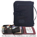 Bible Cover - Travel Organizer Black X-Large