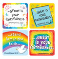 Faith Verses Scripture Stickers (rainbows & doves)