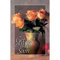 Postcard - Get Well Soon (vase of roses, 25pk)