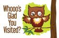 Postcard - Whooo's Glad You Visited? (pkg 25)