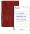 Journal - Faith Notes Spiritual Growth Notebook, Burgundy