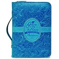 Bible Cover - Blue Grace and Peace LG