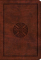 Bible ESV LP Compact Brown Mosaic Cross Trutone