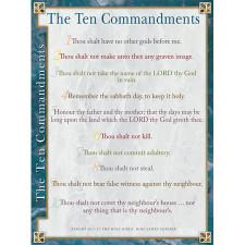 Terrible image pertaining to 10 commandments kjv printable