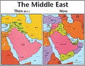 Middle East Then and Now Wall Chart - Laminated