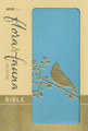 Bible NIV Flora and Fauna Collection Turquoise/Gold Bird